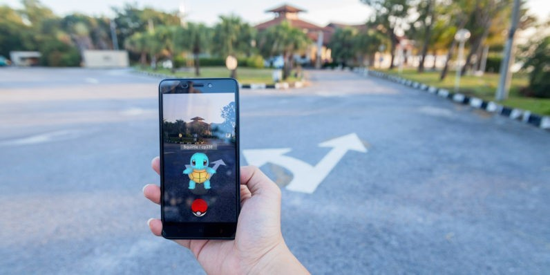 Pokemon: an example of when augmented reality meets virtual reality.