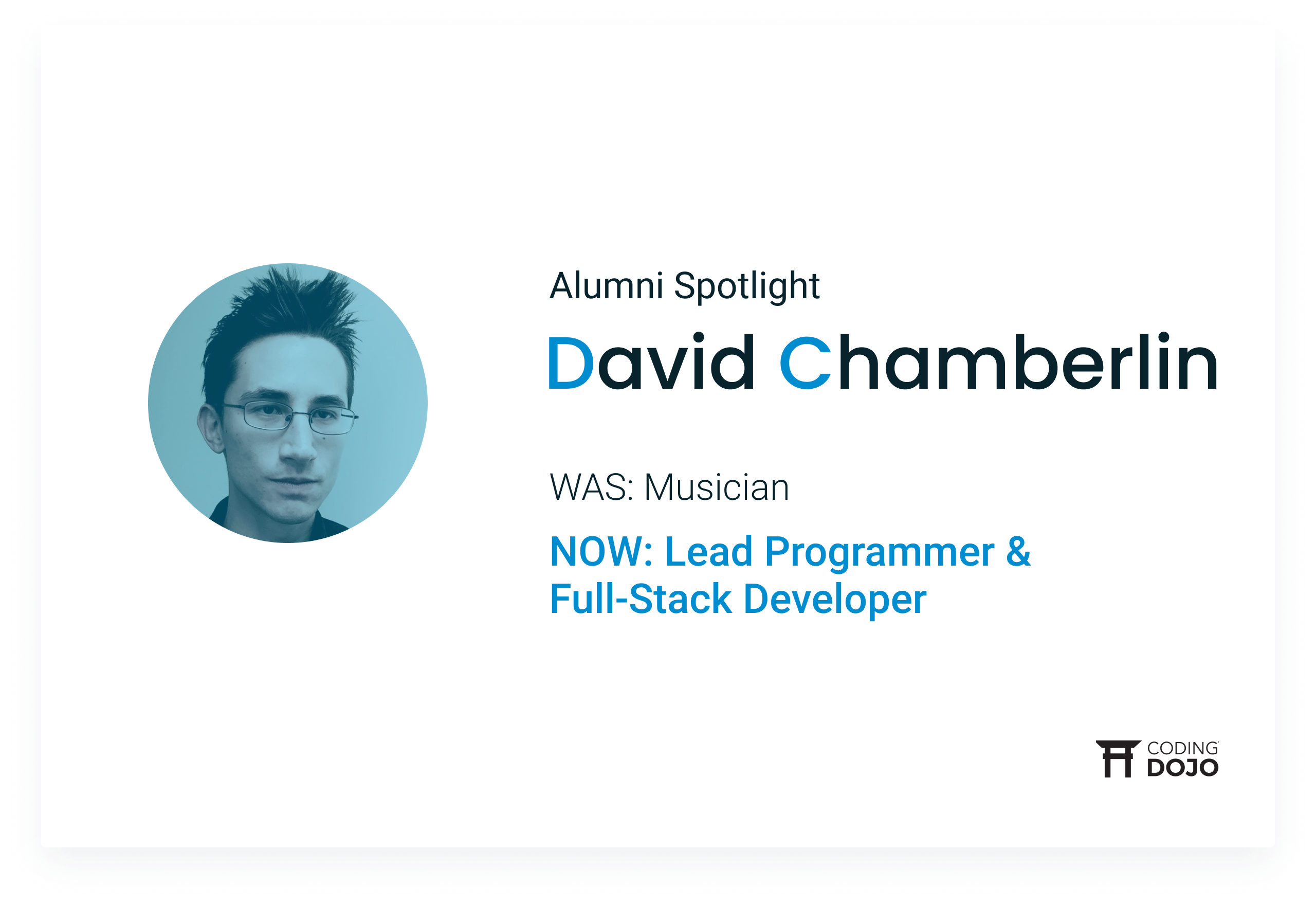From Crafting Songs to Crafting Code | How LA Alumni David Chamberlin Followed His Passion to a New Career