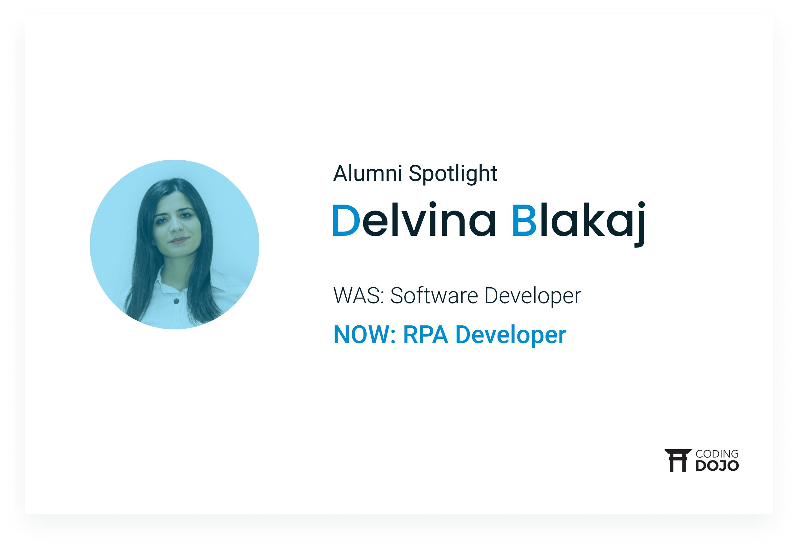 From Crawling Websites to Building Robots | How Online Part-Time Alumna Delvina Blakaj Upskilled Into a New Career