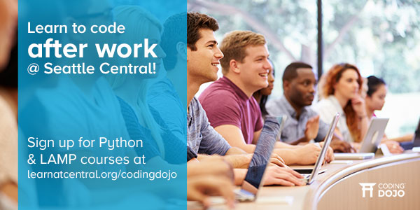 Learn to code with Seattle Central College and Coding Dojo
