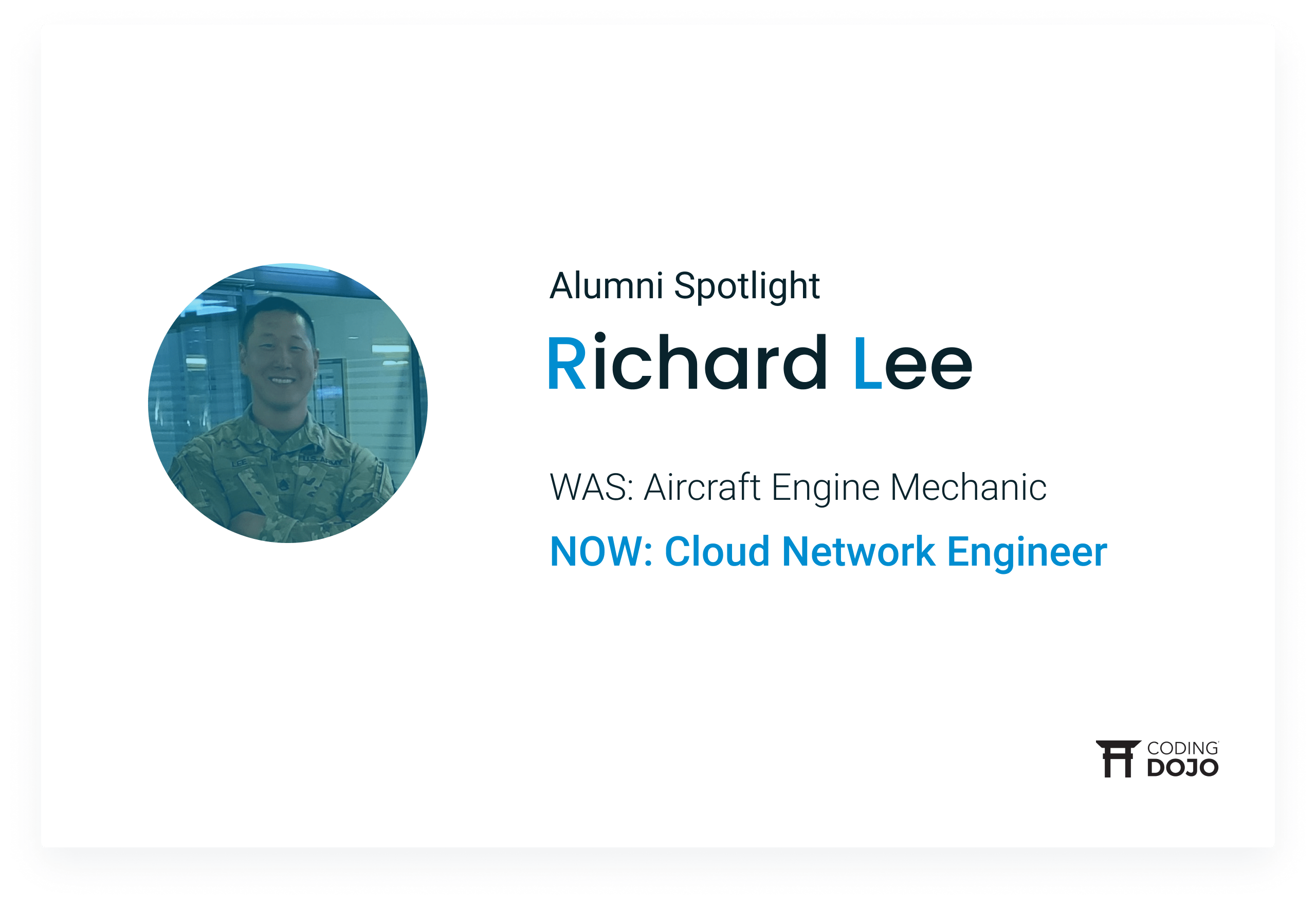 From Airplane Engines to Engineering Networks | How Bellevue Graduate Richard Lee Upgraded His Career in the Cloud
