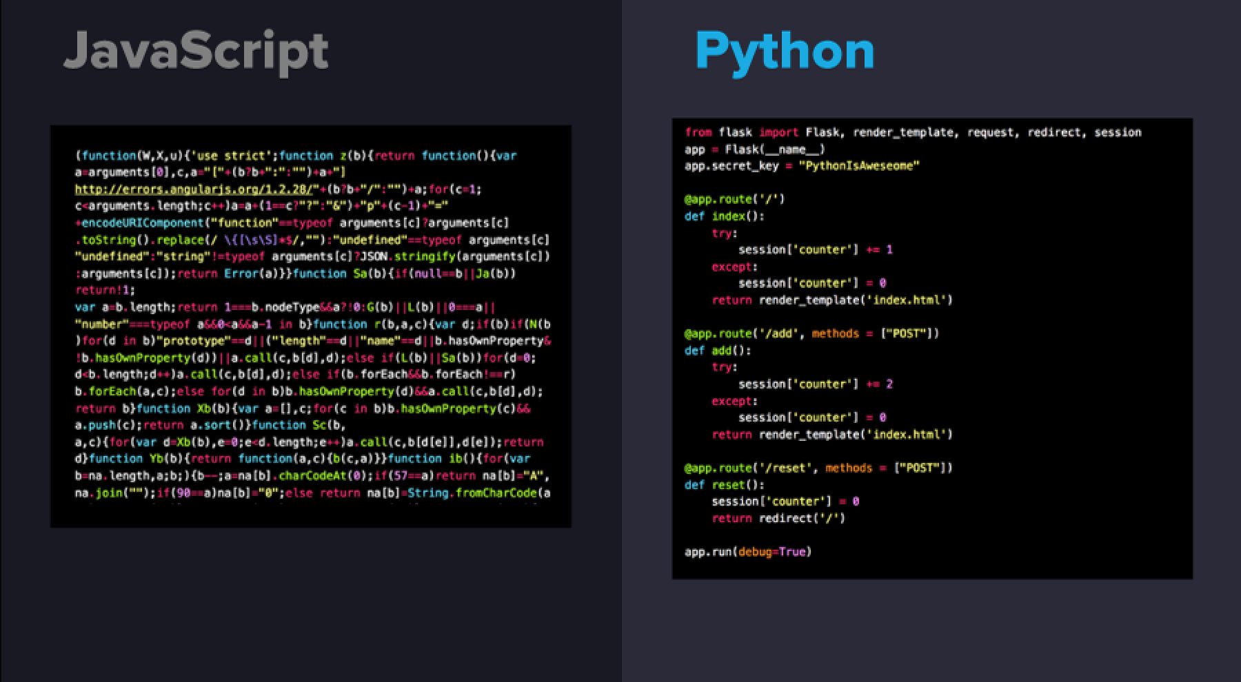 here is why Python is better than Java or any other language. python simplicity