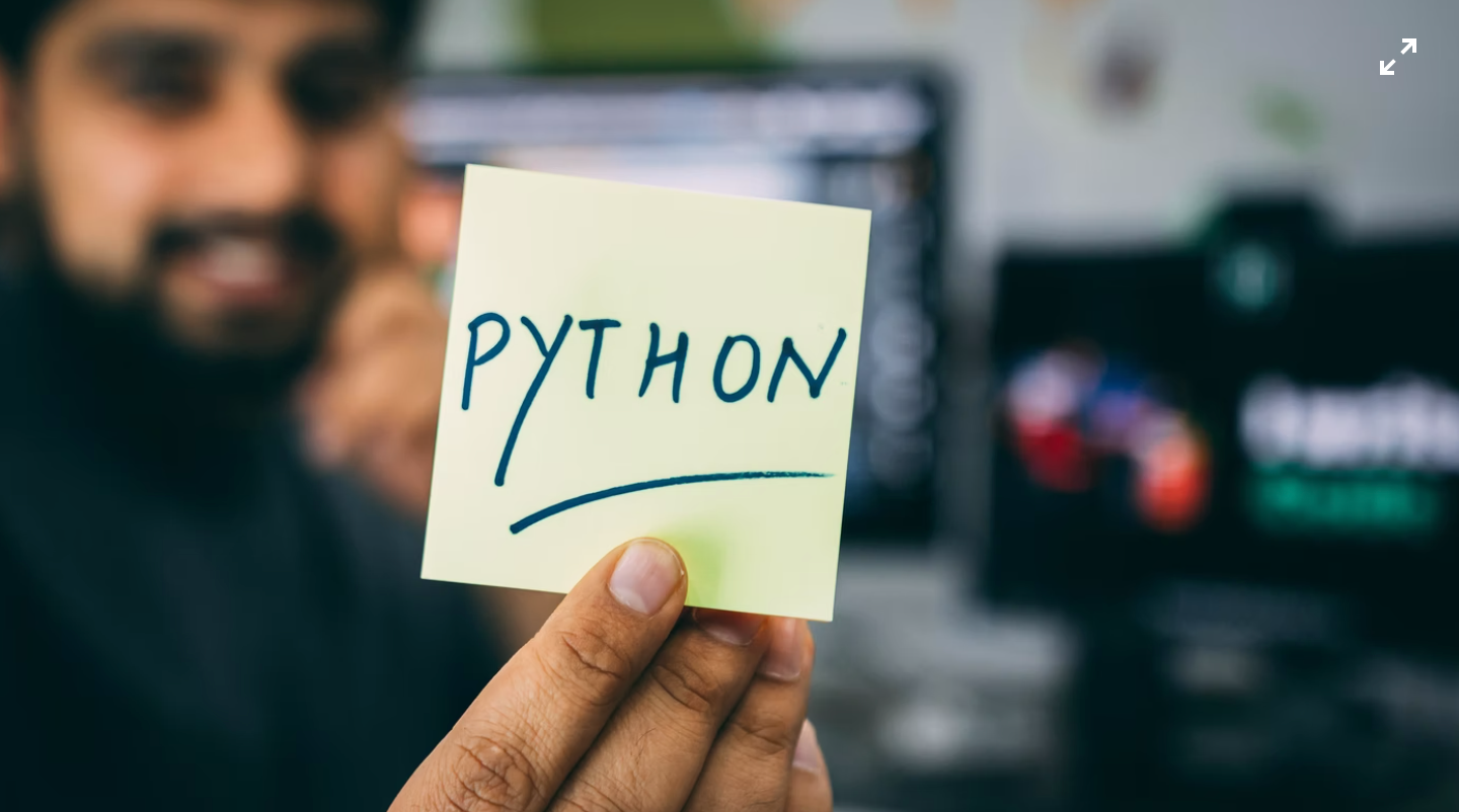 A note with Python written on it