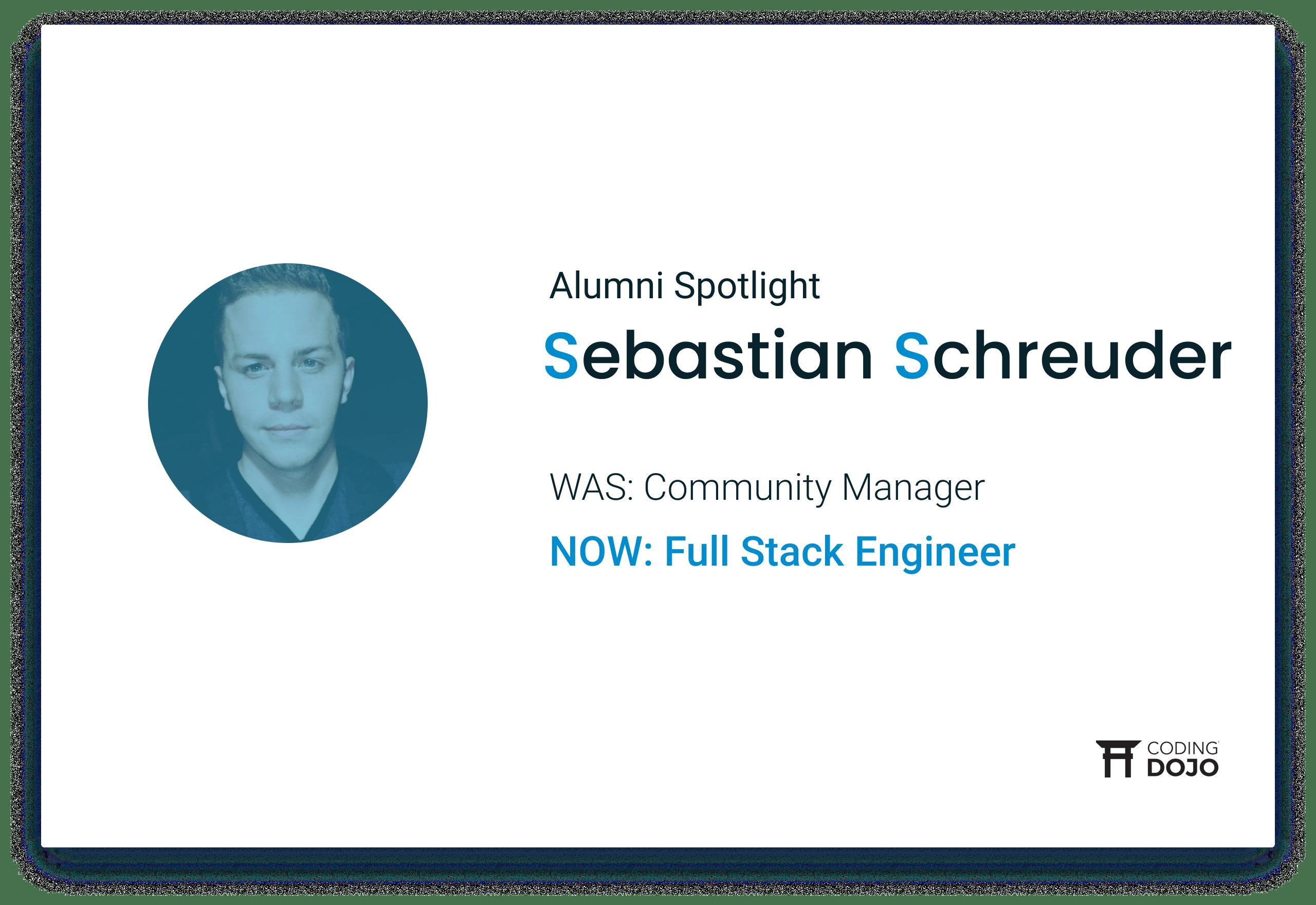 Coding Dojo Alumni Success | Sebastian Schreuder