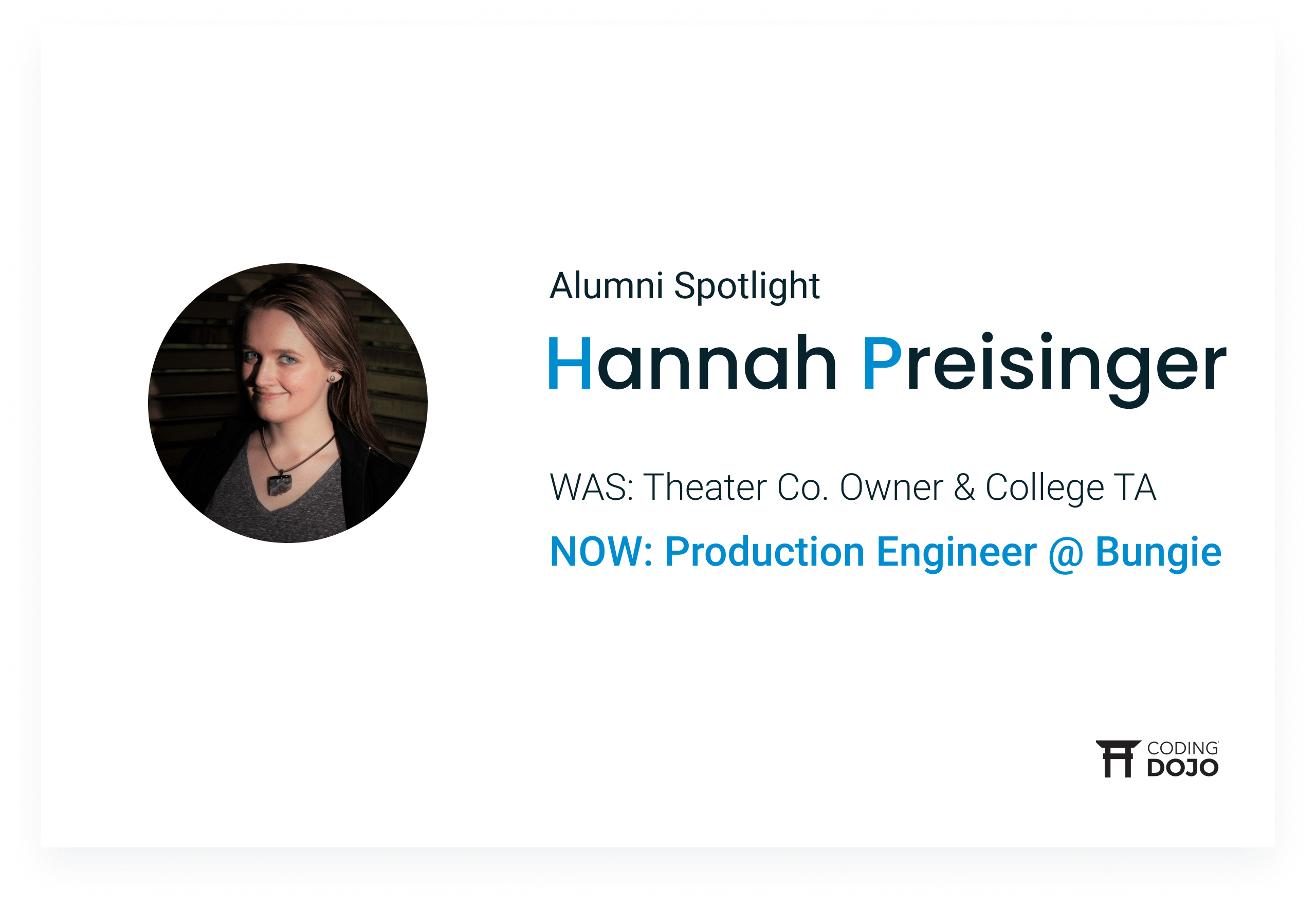 From Theater Production to Production Engineer at Bungie | How Bellevue Graduate Hannah Preisinger Landed Her Dream Job
