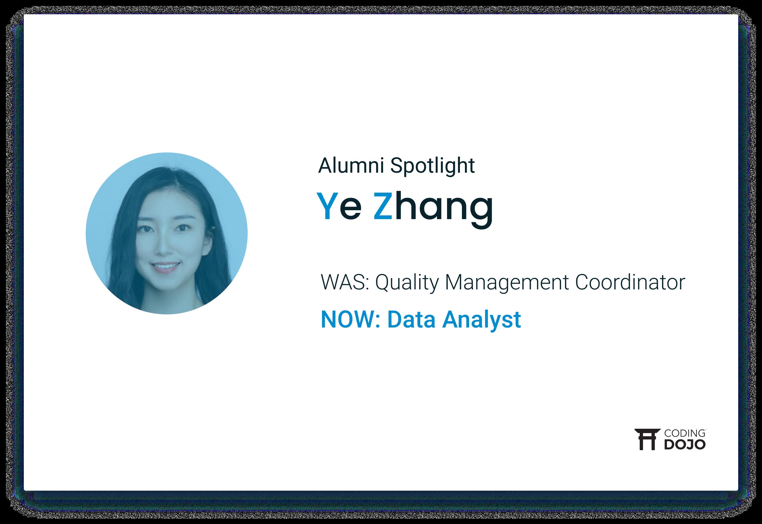 Coding Dojo Alumni Success | Ye Zhang