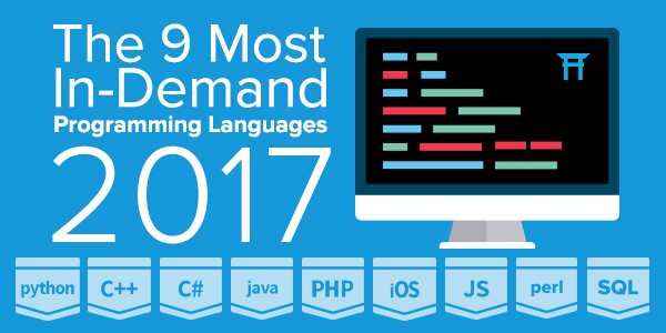 the most in demand programming languages of coding dojo blog 9 most in demand languages 2017