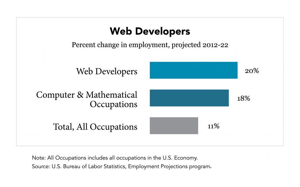 Career in Web Development Chart